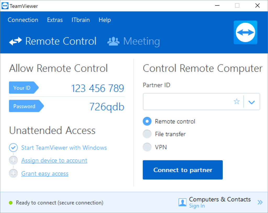 How to access laptop remotely with TeamViewer