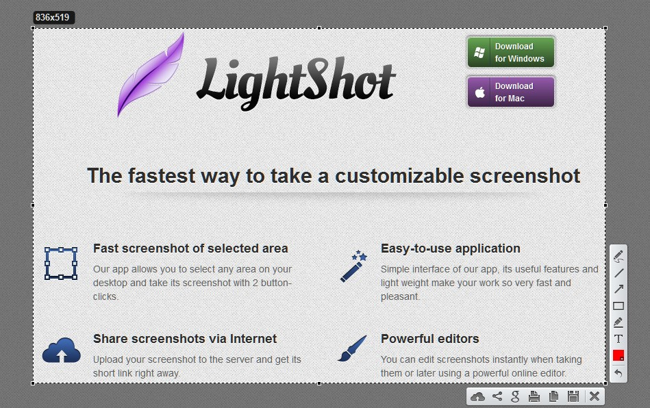 How to capture screenshot with Lightshot Screenshot Tool for Mac & Win